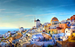 stunning view of Santorini Island when on tour with Booking Day Trip